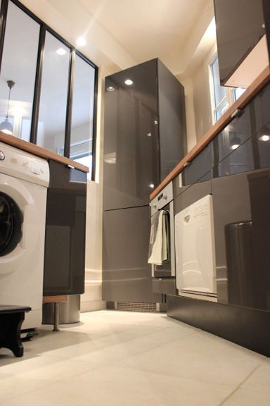 cuisine ikea ringhult grise pour notre projet avec verri re les projets de l 39 agence. Black Bedroom Furniture Sets. Home Design Ideas