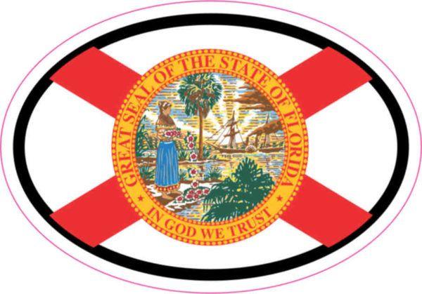 Oval Florida Flag sticker