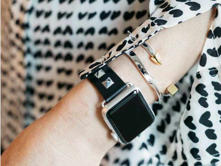 Studded Leather Band for the Apple Watch