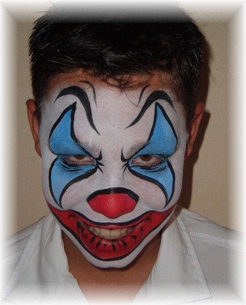 Face Painting - Evil Clown.JPG (480×596) | This Is ...