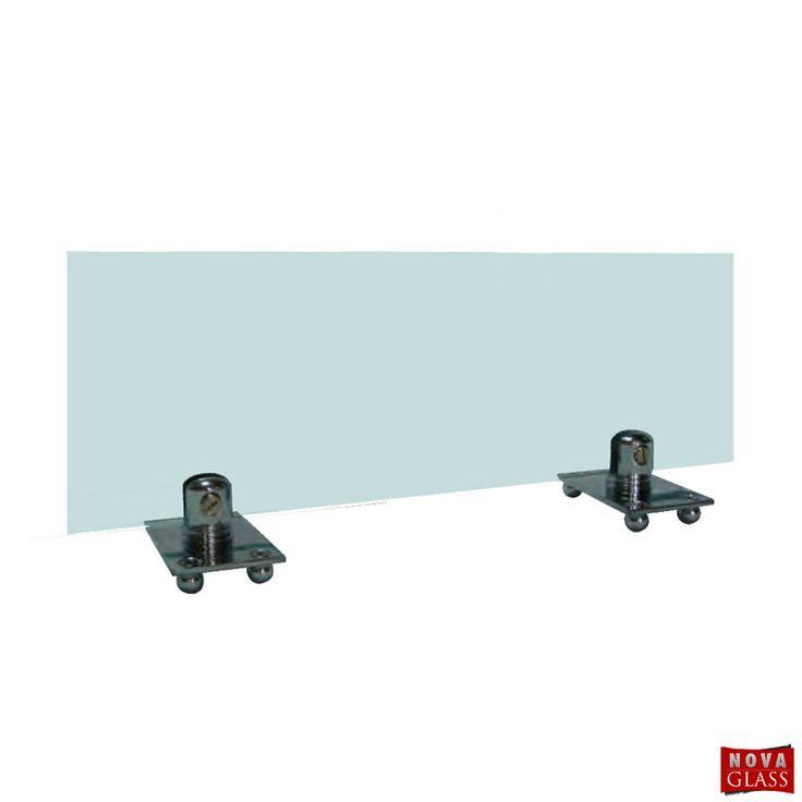 Μεταλλικό στήριγμα για κρύσταλλο τζακιού Κωδ. 1138 | Nova Glass e-shop