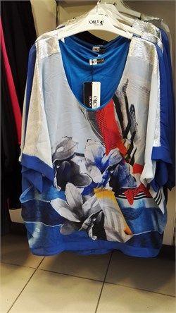 Şifon Detaylı Çiçek Desenli Bluz