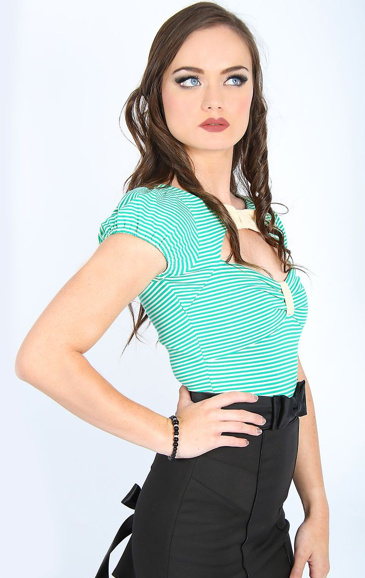 Paris In Spring Bow Top (Green)
