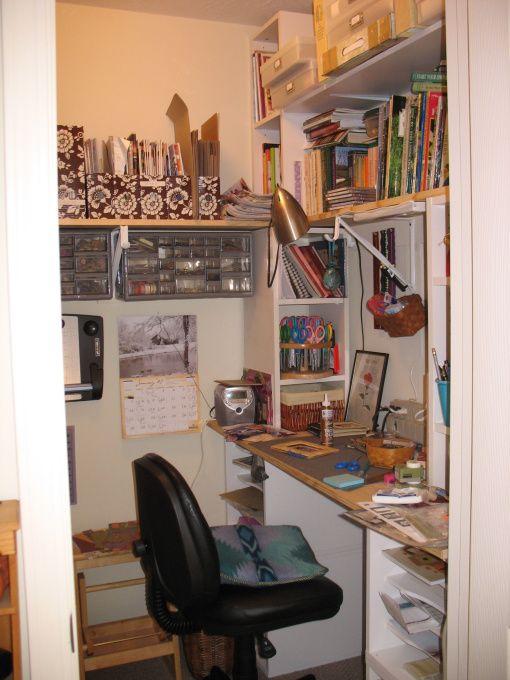 Scrapbook closet organization ideas | Walk-in craft closet, Walk-in closet in the guest bedroom is now a ...