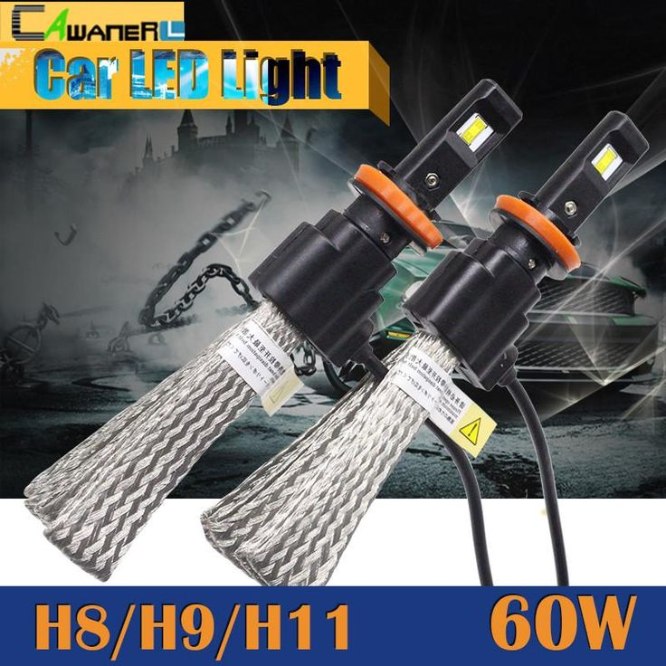 Cawanerl 60W H8 H9 H11 LED Bulb 6400LM 6500K Cool White Replacement Car Fog Light Headlight Daytime Running Lamp DRL
