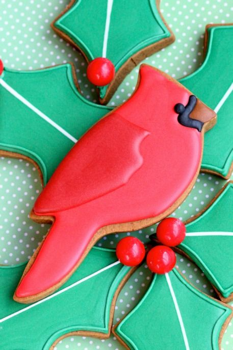 Have you known that the Christmas Cardinal is a symbol of hope and that the bright red color symbolizes the blood that Christ shed for our sins. It would bring peace and joy into your home if you had one on your Christmas tree or on your table!  Here is a nice tutorial how to bake Simple Cardinal Gingerbread Cookies!  The recipe itself can be found here http://sweetopia.net/2012/11/simple-cardinal-gingerbread-cookies/
