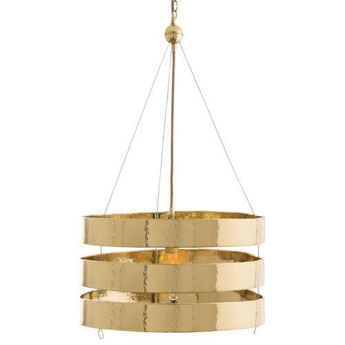 arteriors roxy 1 light pendant in hammered polished brass