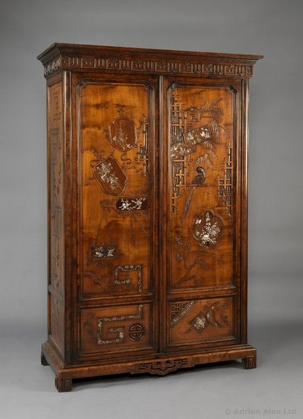 621 best images about armoire chest cupboard on for Cabinet japonais