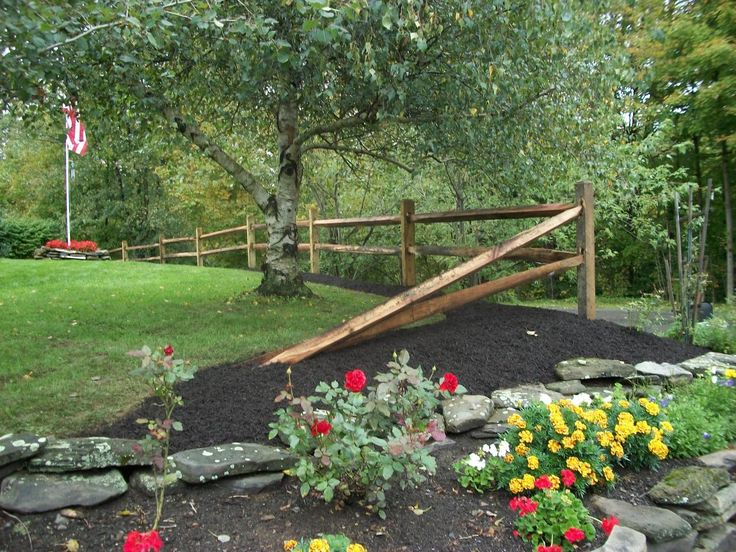 #PinMyDreamBackyard - Split Rail fence, just a couple sections, and then end it like this to separate our driveway from the neighbor's.