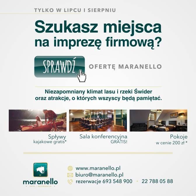 #Imprezy firmowe, #konferencje, #szkolenia - organizujemy przez cały rok ale w wakacje nasza oferta jest dużo korzystniejsza. Kontakt do działu sprzedaży: biuro@maranello.pl :) Maranello Hotel & Restaurants