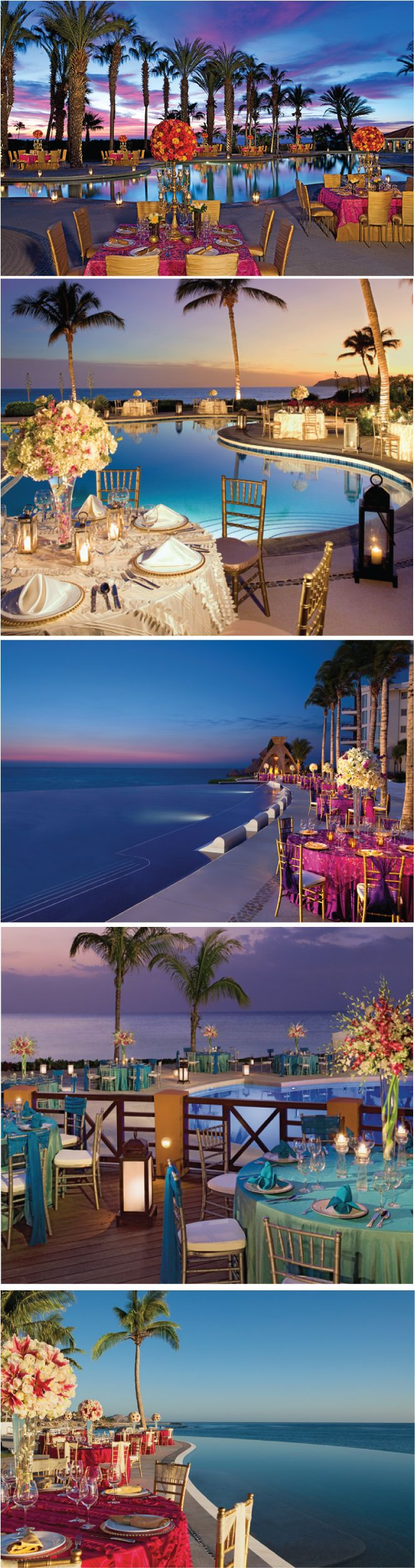 A stunning collection of Poolside #Wedding Receptions