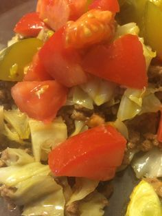 CHEESEBURGER SKILLET: No carb, cabbage skillet with all the flavor of a delicious cheeseburger. 184 calories per serving. Profile by Sanford Reboot