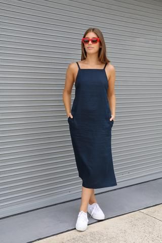 Claudia Dress – this stylish, pull-on sundress features narrow shoulder straps, bust da...