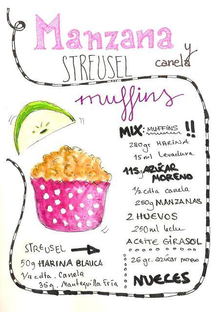 Gastro Andalusi: Muffins de manzana y canela con streusel #elasaltablogs