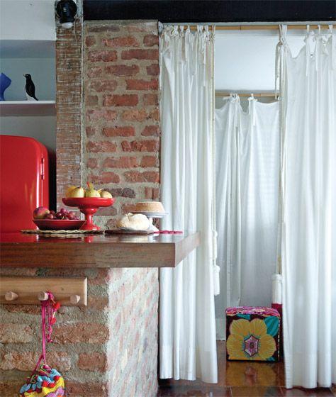 Aqui a idéia é o tijolinho. Eu gosto da cor desses!