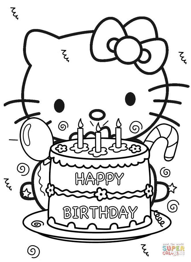 Emerging Hello Kitty Coloring Page Pages Free For Hello Kitty