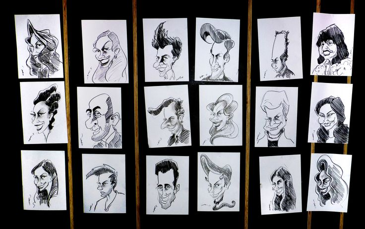 Caricatures at a 21st Birthday Party