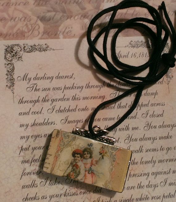 New Domino Altered Art Victorian Boy & Girl by ArtsyMysticDesigns, $9.99
