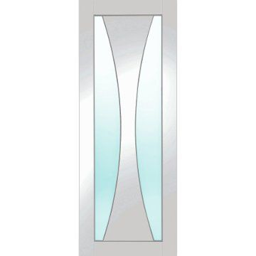 Image of Five Verona White Primed Door with Clear Safety Glass