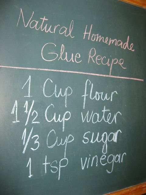Homemade Glue Recipe. I run a small in home daycare. Most of my children are toddlers. I found this recipe for homemade glue and it really works great. I give each little one their own cup of the glue with a paint brush to apply. They have fun and I don't have to worry about them putting the glue in their mouths! The recipe is easy and it's inexpensive!