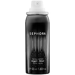 SEPHORA COLLECTION Glitter Spray - Silver - A shimmering spray to add silver glitter to the body and hair.