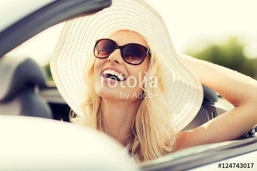 """Laden Sie das lizenzfreie Foto """"happy woman driving in cabriolet car"""" von Syda Productions zum günstigen Preis auf Fotolia.com herunter. Stöbern Sie in unserer Bilddatenbank und finden Sie schnell das perfekte Stockfoto für Ihr Marketing-Projekt!"""