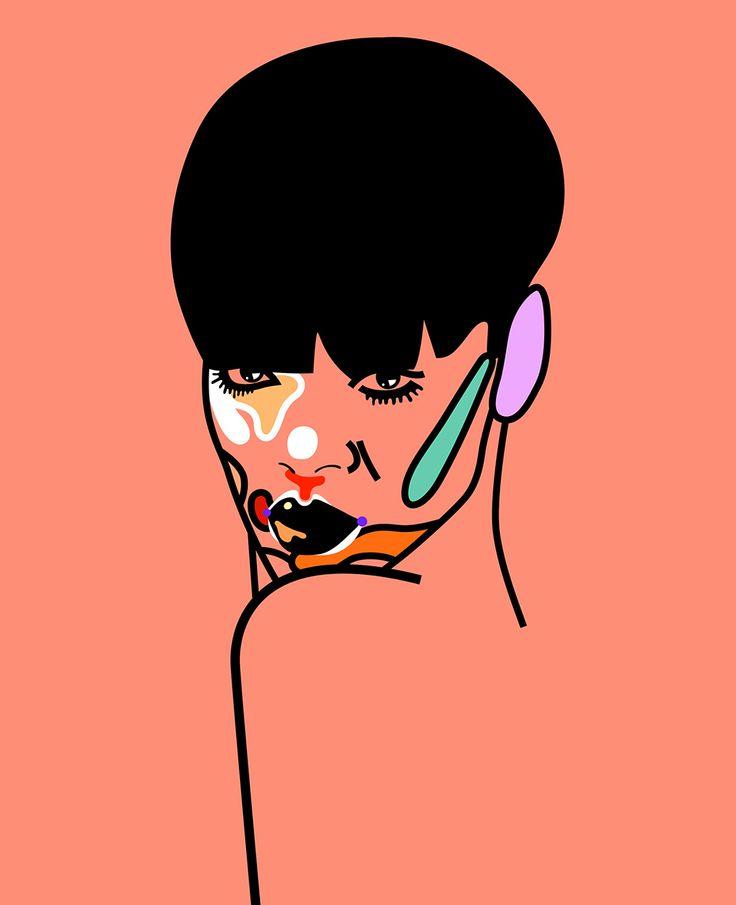 'Rap/Pop Face' Rihanna by Magnus Voll Mathiassen — Agent Pekka