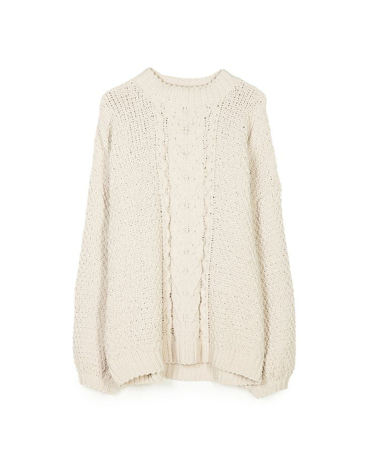 At Stradivarius you'll find 1 Chenille sweater with balloon sleeves for just 4914 Japan . Visit now to discover this and more Knitwear.