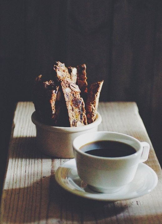 Biscotti and coffee.