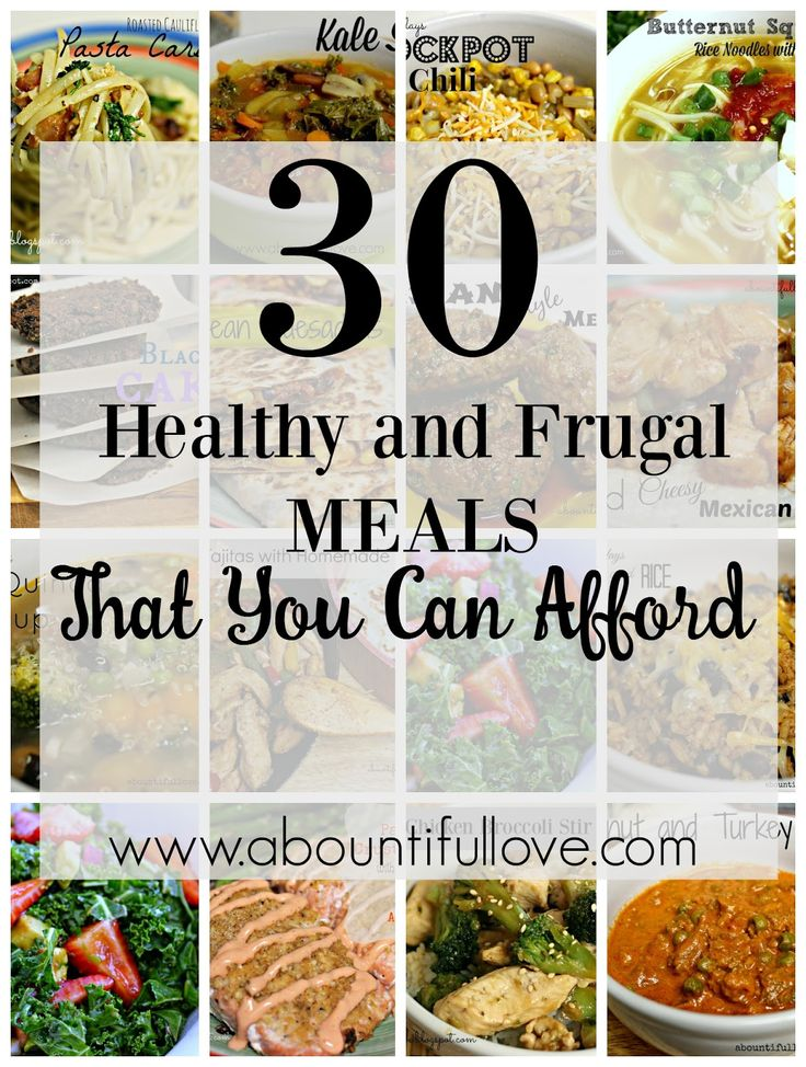 If you find yourself clueless or in need of Healthy and Frugal Meals , here's 30 recipes for you! These recipes are $10 or less to make, we are a family of four and there are always leftovers!