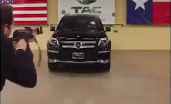 CEO of TAC  sits inside Benz to take the gun shots in his bullet proof car.