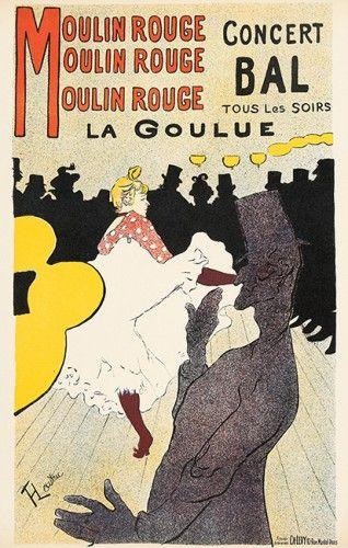 TOULOUSE-LAUTREC. Moulin Rouge - La Goulue.