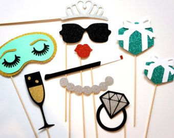 A Bridal Shower photo booth with props for the guests to enjoy and create wonderful memories.