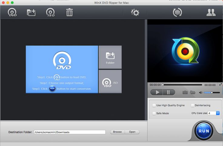 Rip DVDs Free on Mac OS