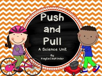 Push and Pull the perfect product for teaching your kiddos all about the force of motion of a push and pull.Pg. 3 - 20: Pocket Chart Headers and Definition Cards for Push, Pull, Push and Pull, Force and Motion Along with 7 Push picture cards (including arrows) 7 Pull picture cards (including arrows) and 4 pictures cards showing action that involve pushing and pulling. (Color and B&W)Pg. 22 - 26: 2 Push Coloring Pages, 2 Pull Coloring Pages, 1 Push and Pull Coloring Page**Perfect for Homew...