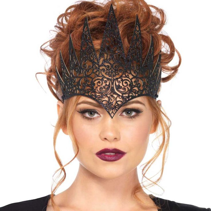 Leg Avenue. Een mooie koninklijke kroon haaraccessoire in het zwart voor een echt koninklijke look.