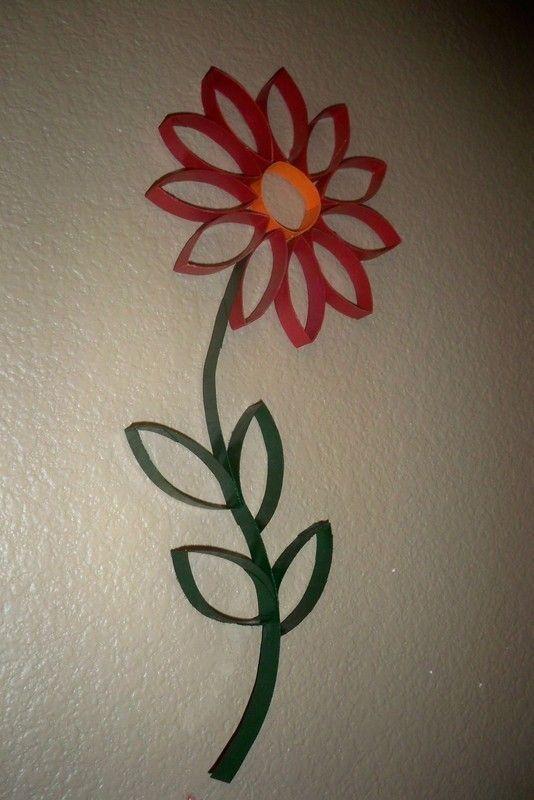 Toilet Paper Roll Wall Art, flower, recycle, elementary school, maak een bloem van wc-rol, toiletpapier rol, seizoenen, lente, zomer, maak verschillende bloemen door kleur en vorm te veranderen