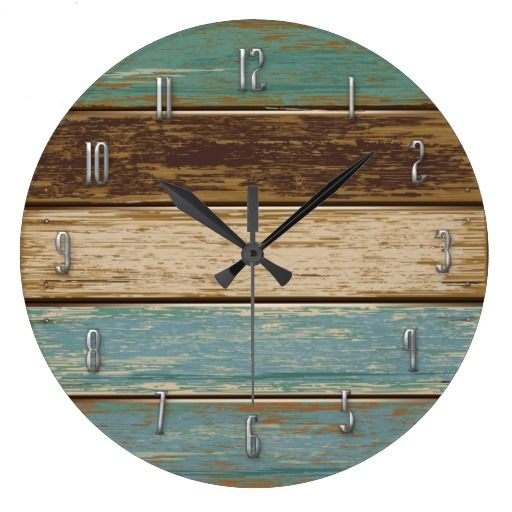Horloge Murale De Bois De Flottage Interior Design