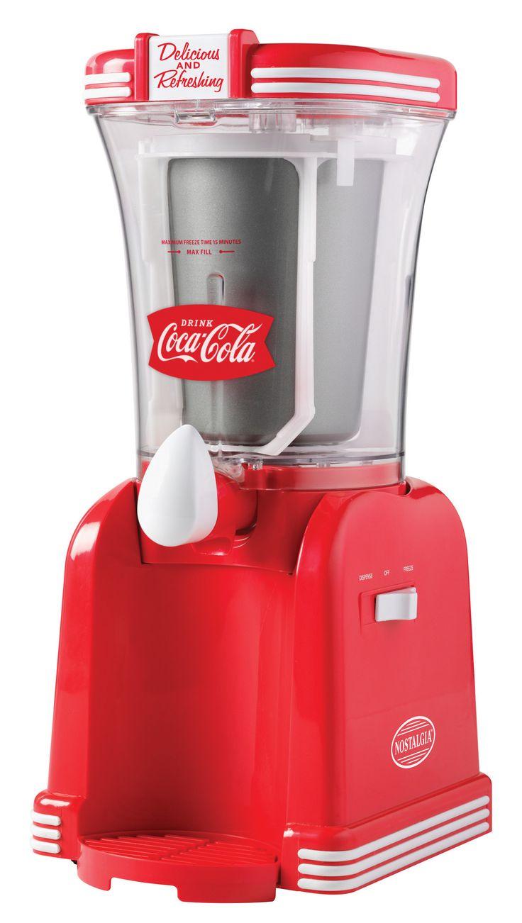 SlushMaking Machine DrinkSlushySmoothie Maker SnowFrozen Juice Red