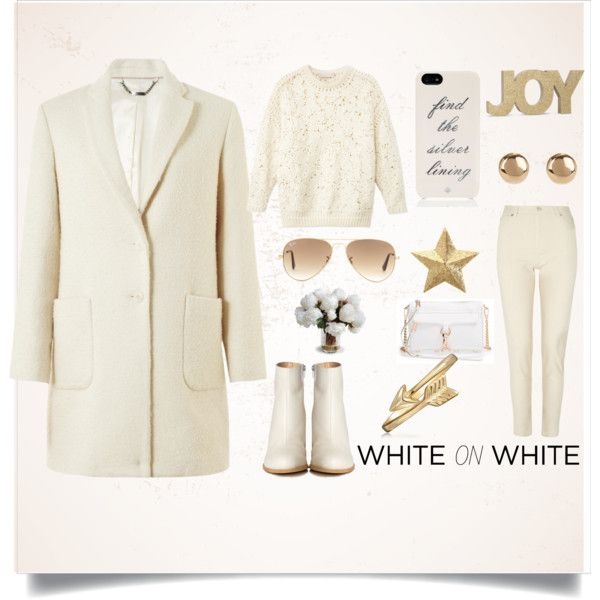 """White on white"" by gelykou on Polyvore"