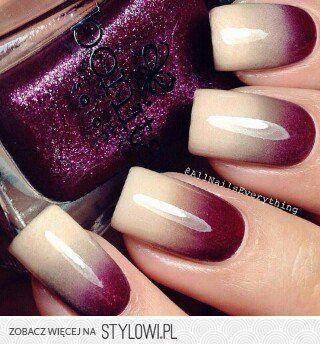 Nail art - autumn style.