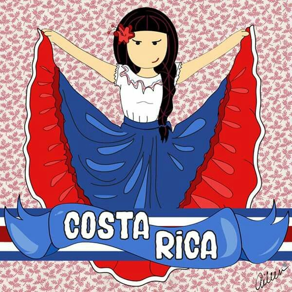 Traje Típico -  Costa Rica La Malota #FanArt www.facebook.com/lamalotaofficial…