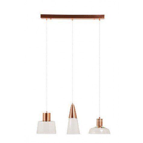 Spectacular Suspension L cm TRINITY or rouge verre Light u Living webshop Lightmakers