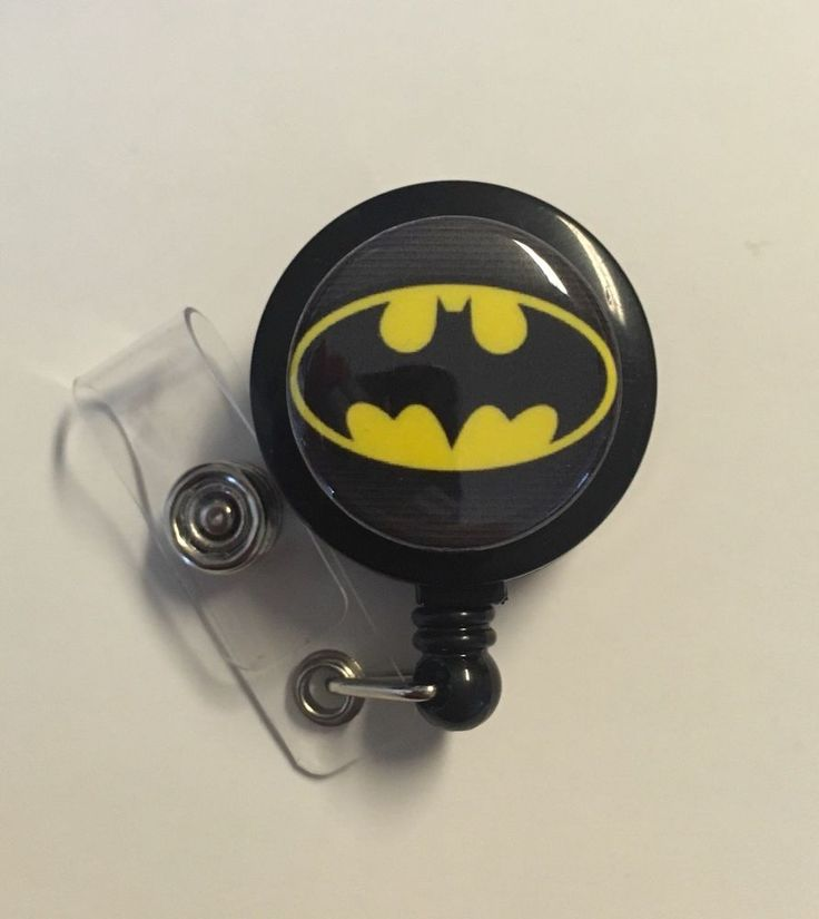 Retractable Badge Holder, Batman, Medical Office Supplies Nurse Veterinary