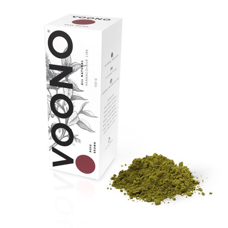 Barva na vlasy Rose brown 100% přírodní Voono. Využijte dopravu zdarma při nákupu nad 890 Kč nebo výdejní místo zdarma v naší kamenné prodejně NuSpring v Praze.
