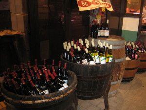 Paris - market - wine