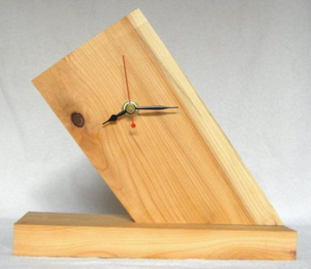Unique Wood Clock | ... Solid Yew Wood Clock. – a unique product by craftyclocks on DaWanda