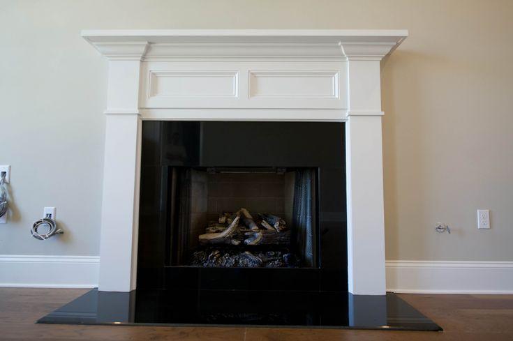 Wood mantle fireplace granite surround  granite hearth  Woodwork and Trim  Granite
