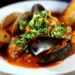 Italian Seafood Stew...might try it without the tomato?