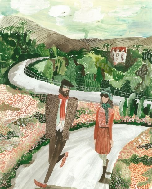 "Leaving Secret Garden by Kirsten Sims. Illustrator Kirsten Sims describes her work as ""whimsical, theatrical, humorous and experimental"". We caught up with her to find out more about her work."